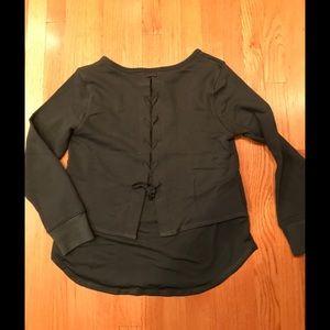 New Cross Tie Back Sweatshirt Small